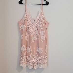 NWT Forever 21 Lace and Mesh Romper